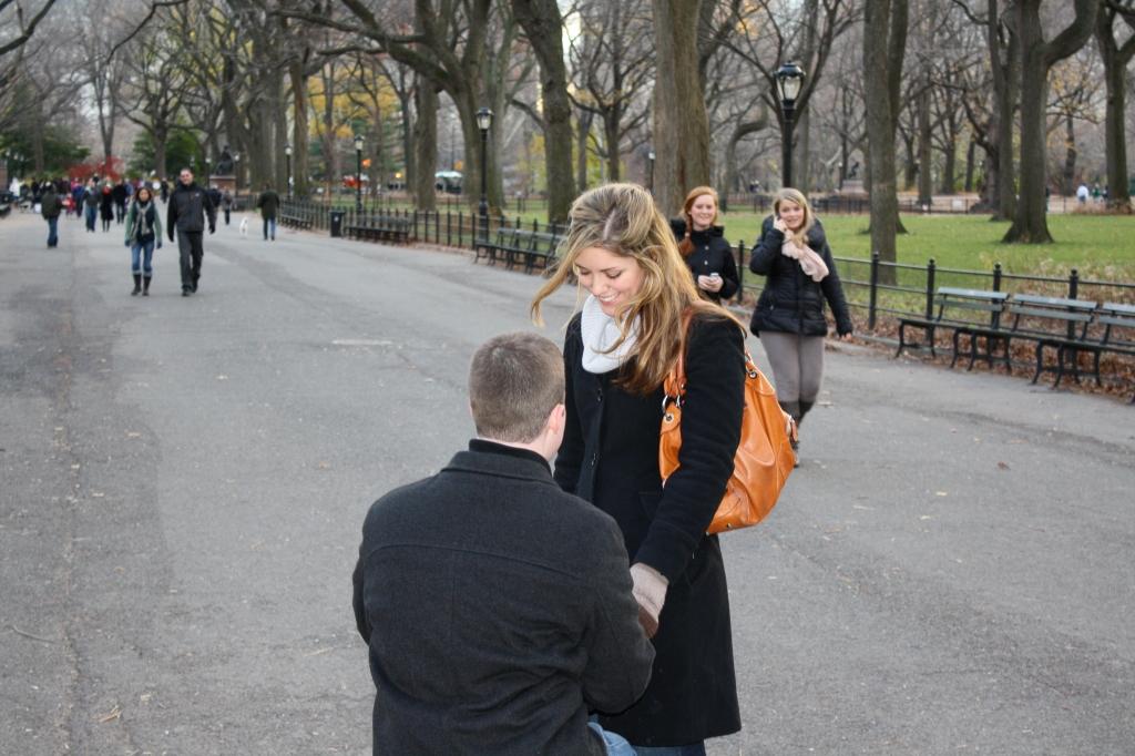 Engaged - Poet's Walk - December 4, 2010