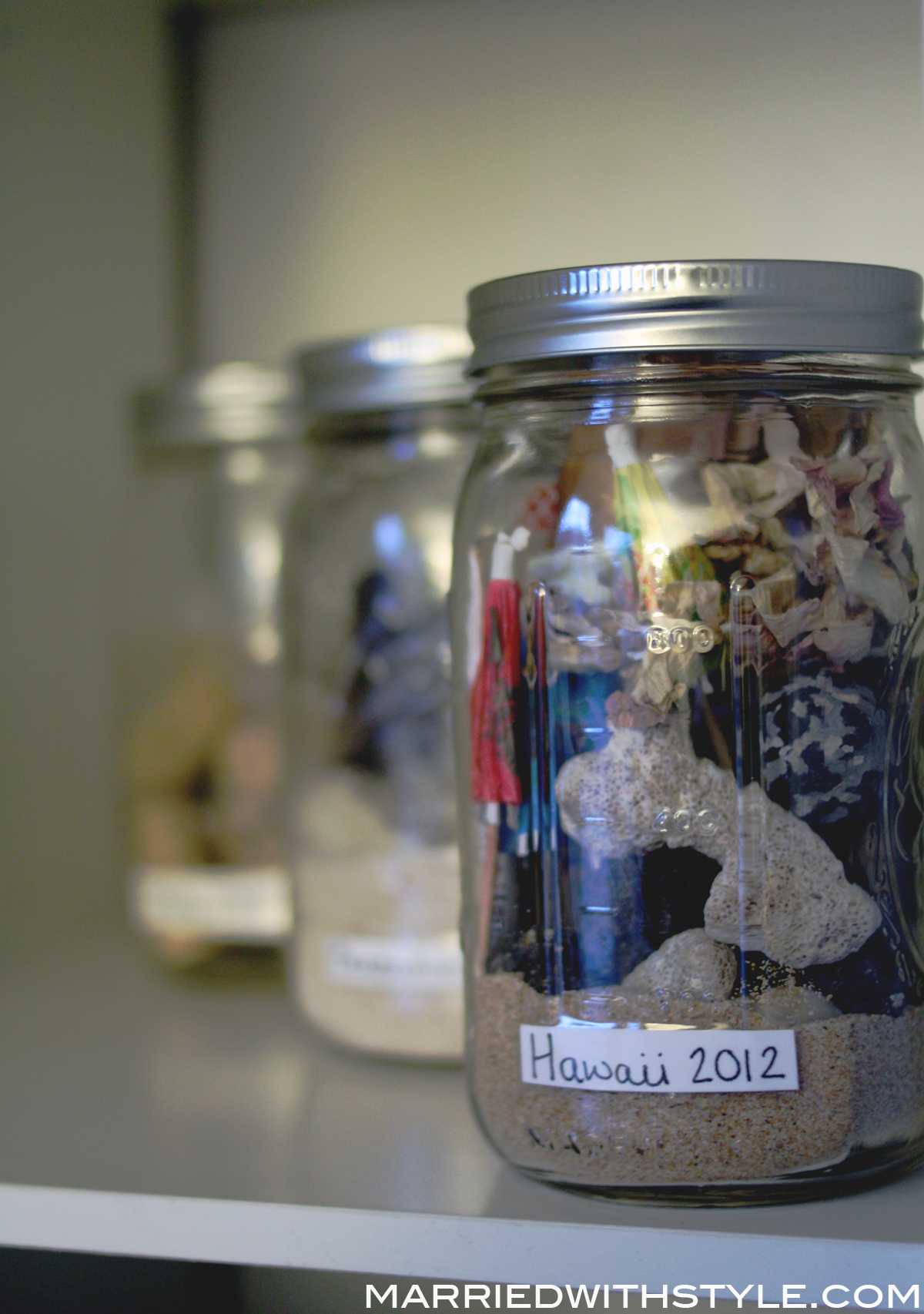 Diy Travel Memory Jars Married With Style