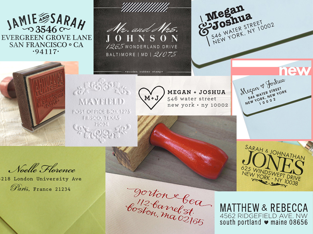 wedding return address stamp | Married with Style