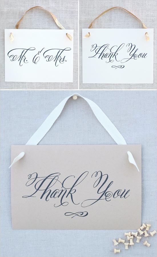 wedding thank you sign ideas