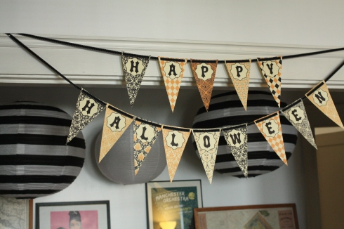 Printable Happy Halloween banner
