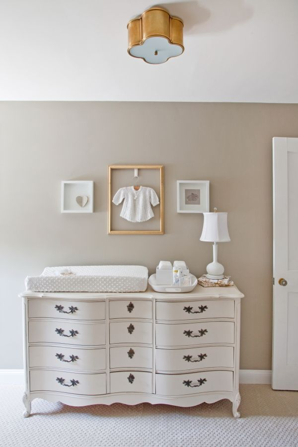 buffet sideboard as changing table