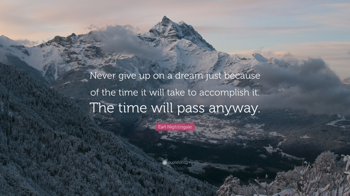 dream quote never give up